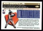 1996 Topps #205  Ken Griffey Jr.  Back Thumbnail