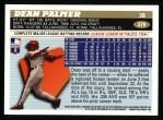 1996 Topps #379  Dean Palmer  Back Thumbnail