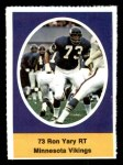 1972 Sunoco Stamps  Ron Yary  Front Thumbnail
