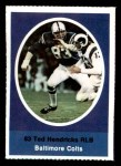 1972 Sunoco Stamps  Ted Hendricks  Front Thumbnail