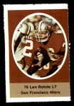 1972 Sunoco Stamps  Len Rohde  Front Thumbnail