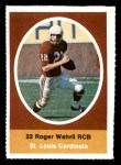 1972 Sunoco Stamps  Roger Wehrli  Front Thumbnail