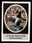 1972 Sunoco Stamps  George Blanda  Front Thumbnail
