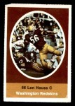 1972 Sunoco Stamps  Len Hauss  Front Thumbnail