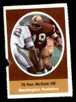 1972 Sunoco Stamps  Ron McDole  Front Thumbnail