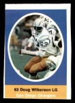 1972 Sunoco Stamps  Doug Wilkerson  Front Thumbnail