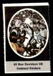 1972 Sunoco Stamps  Ben Davidson  Front Thumbnail