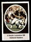 1972 Sunoco Stamps  Daryle Lamonica  Front Thumbnail