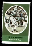 1972 Sunoco Stamps  W.K. Hicks  Front Thumbnail