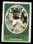 1972 Sunoco Stamps  Joe Namath  Front Thumbnail