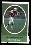 1972 Sunoco Stamps  Don Maynard  Front Thumbnail
