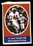 1972 Sunoco Stamps  Larry Carwell  Front Thumbnail
