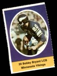 1972 Sunoco Stamps  Bobby Bryant  Front Thumbnail