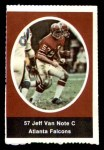 1972 Sunoco Stamps  Jeff Van Note  Front Thumbnail