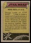 1977 Topps Star Wars #216   Han and Leia quarrel Back Thumbnail
