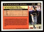 1997 Topps #213  Fernando Vina  Back Thumbnail
