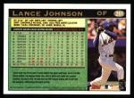 1997 Topps #261  Lance Johnson  Back Thumbnail