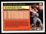 1997 Topps #393  Dean Palmer  Back Thumbnail