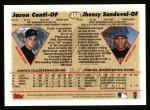 1997 Topps #468  Jhensy Sandoval / Jason Conti  Back Thumbnail