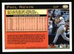 1997 Topps #369  Phil Nevin  Back Thumbnail