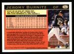 1997 Topps #475  Jeromy Burnitz  Back Thumbnail