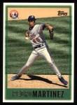 1997 Topps #158  Pedro Martinez  Front Thumbnail