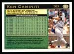 1997 Topps #262  Ken Caminiti  Back Thumbnail