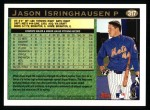 1997 Topps #317  Jason Isringhausen  Back Thumbnail
