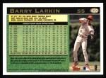 1997 Topps #420  Barry Larkin  Back Thumbnail