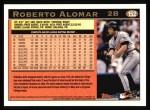 1997 Topps #152  Roberto Alomar  Back Thumbnail