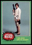 1977 Topps Star Wars #255   Luke poses with his weapon Front Thumbnail