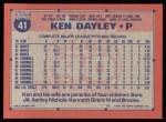 1991 Topps #41  Ken Dayley  Back Thumbnail