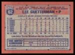 1991 Topps #62  Lee Guetterman  Back Thumbnail