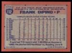 1991 Topps #112  Frank DiPino  Back Thumbnail