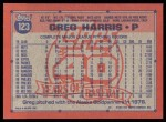 1991 Topps #123  Greg A. Harris  Back Thumbnail