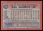 1991 Topps #245  Kal Daniels  Back Thumbnail