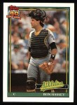 1991 Topps #327  Ron Hassey  Front Thumbnail