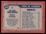 1991 Topps #388   -  Kelly Gruber All-Star Back Thumbnail