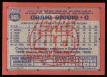 1991 Topps #565  Craig Biggio  Back Thumbnail