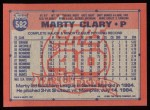 1991 Topps #582  Marty Clary  Back Thumbnail