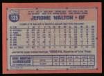 1991 Topps #135  Jerome Walton  Back Thumbnail