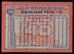 1991 Topps #170  Carlton Fisk  Back Thumbnail