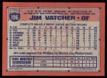 1991 Topps #196  Jim Vatcher  Back Thumbnail