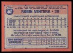 1991 Topps #461  Robin Ventura  Back Thumbnail