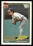 1991 Topps #686  Mike Gallego  Front Thumbnail