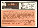 1966 Topps #36  Catfish Hunter  Back Thumbnail