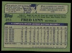1982 Topps #251  Fred Lynn  Back Thumbnail