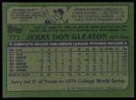 1982 Topps #371  Jerry Don Gleaton  Back Thumbnail