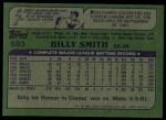 1982 Topps #593  Billy Smith  Back Thumbnail
