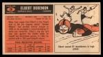 1965 Topps #28  Elbert Dubenion  Back Thumbnail
